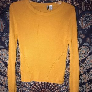 Burnt yellow sweater